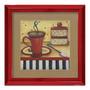 Quadro Decorativo Cafezinho Arte Vintage Em Madeira