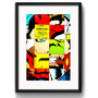 Quadro Marvel Stan Lee Comics Decorativo Vidro Paspatur