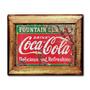 Quadro Placa Da Coca-cola C/ Moldura Em Madeira