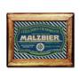 Quadro Cerveja Malzbier C/ Moldura Em Madeira