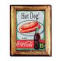 Quadro Hot Dog And Coca-cola C/ Moldura Em Madeira