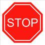 Placa De Trânsito Stop Em Mdf - 35 X 35 Cm - Quadro