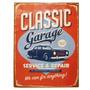 Placa De Metal Clássico Garage Since 1964