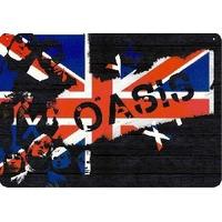 Mdf - Madeira - Placa Adesivada Musical Oasis Bandeira 28x40