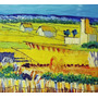 Quadro Tela Óleo Pintado A Mão Estilo Van Gogh 30x40cm
