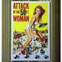 Porta Chave Placa Retrô Vintage Filme Attack Woman Cinema