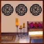 Trio Quadros Mandalas Mdf Escultura De Parede Vazada 50 Cm