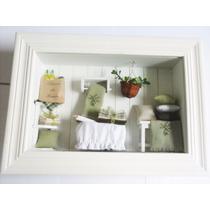 Quadro Decorativo - Almofadas Floreira E Mantas