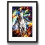 Quadro Cowboy Pop Art Cavalo Country Arte Decoracao Paspatur