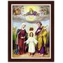 Quadro Religioso 60x80 Com Moldura - Sagrada Familia