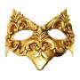 Máscara Cênica Castello Dourada De Parede Em Papel Machê