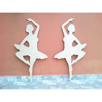 Bailarina(dupla) Chão Sem Pintura Mdf 6mm, 1 Metro Artesanal
