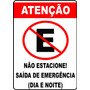 Placa Personalizada Proibido Estacionar - Imóveis