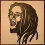 Quadro Famosos Bob Marley Em Mdf 6,0mm Vazado + Pintura