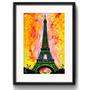 Quadro Paris Arte Decoracao Retro Eiffel Pop Art Paspatur