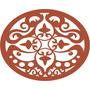 Quadro Escultura Parede Decor Mdf Mandala Oriente Gde 1mx80