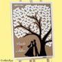 Quadro Árvore De Assinaturas Para Casamento + Caneta