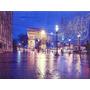 Quadro Painel Decoração Tela Impressa 30x40 Com Led Paris