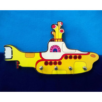 Porta Chave Placa Decorativa Retrô Submarino Amarelo Beatles