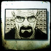 Breaking Bad Walter White Heisenberg Quadro Pirógrafo