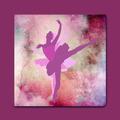 Quadro Bailarina Quadro Decorativo Quarto De Menina 65x65cm
