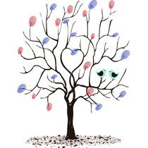 Carimbeira Colorida Árvore De Digitais, Casamento, Scrapbook