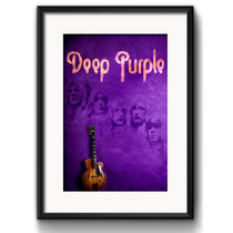 Quadro Deep Purple Classic Rock Guitarra Decorativo Paspatur