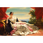 Quadro Tela Princes Leonilla Sayn Pintura Franz Winterhalter