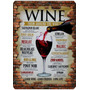 Quadro Placa Decorativa Adesivada Mdf - Vinho Wine