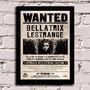Poster Com Moldura Harry Potter - Wanted Bellatrix