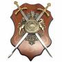 Quadro Brasão Medieval Irlandês Longsword Decorativo (11914)
