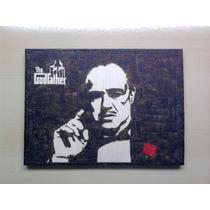 The Godfather O Poderoso Chefão Filme Quadro Pirógrafo