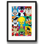 Quadro Looney Tunes Comics Arte Decorativo Pop Art Paspatur