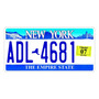 Placa De Carro Decorativa New York - Estados Unidos