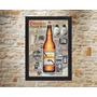 Quadro Cerveja Original Brahma E Outras 42x30 Com Moldura
