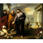 Jesus Cura Paralítico Milagre 1670 Pintor Murillo Tela Repro