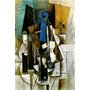 Pintura Abstrata Guitarra Música Pintor Picasso Tela Repro