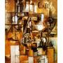 Pintura Abstrata Café Paris 1912 Pintor Picasso Tela Repro