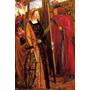 Santa Catarina Homem Pintando 1857 Pintor Rossetti Tela Repr