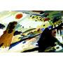 Arte Abstrata Romântica Paisagem Pintor Kandinsky Tela Repro