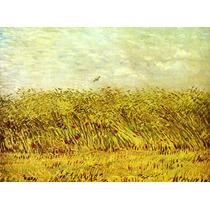 Campo Trigo Plantacao Fazenda Reprodução De Van Gogh Na Tela