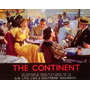Cartaz Poster Vintage The Continent Elegante Bar Europeu