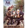 Bebendo Boa Cerveja Leao Lion Cachorro Antigo Poster Repro