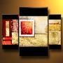 Quadros Com Pintura Abstrata Pintada A Mão (óleo Sobre Tela)