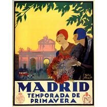 Temporada Da Primavera Madri Mulheres Flores Poster Repro