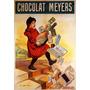 Cartaz Poster Vintage Chocolate Meyers Menina Escada França
