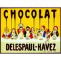 Cartaz Poster Vintage Chocolate Crianças À Mesa França