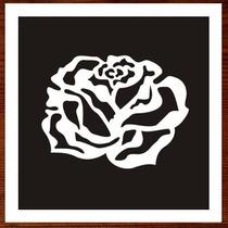 Quadro Painel C/ Rosa Em Alto-relevo Madeira Mdf Escultura