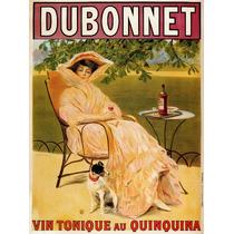 Cartaz Poster Vintage França Dubonnete Mulher Cachorro