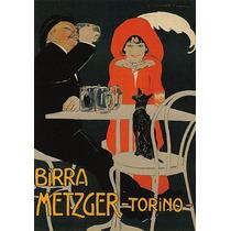 Cerveja Matzger Homem Mulher Cachorro Mesa Poster Repro